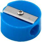 Точилка круглая, пластиковый корпус, без контейнера