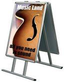 Доска плакатная ОВАЛ на подставке А формат А1
