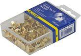 Кнопки золотистые, 100 шт., пластиковый контейнер