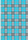 Блокнот на пружине, А5, 48 листов, клетка, картонная обложка, синий
