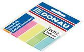 Закладки пластиковые с клейкой полоской 5 цветов х25л., 45х12мм., неон, ассорти