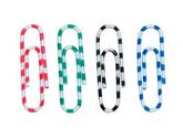 """Скрепки цветные  """"зебра"""", 28мм, 100 шт., пластиковый контейнер"""