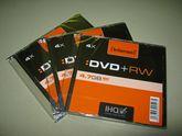 Диск DVD+RW, 4.7Gb, 4х, Slim Intenso