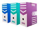 Бокс для архивации документов 150 мм, фиолетовый