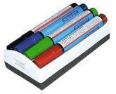 Набор маркеров для досок GRANIT M460, 4 шт. и губка для  доски