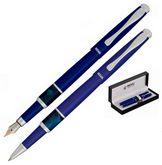 Комплект из перьевой ручки и ручки-роллера в подарочном футляре L, фиолетовый