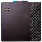 Доска магнитно-маркерная комбинированная 36х36 черная, без рамки