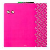 Доска магнитно-маркерная комбинированная 36х36 розовая, без рамки