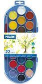 Краски акварельные MILAN, с кистью, 22 цвета