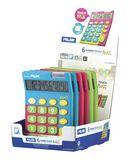 Калькулятор 10-разрядный, TOUCH MIX, дисплей, ассорти цветов
