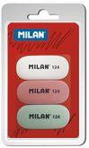 Набор из 3 ластиков MILAN серии MIGA DE PAN (в блистере)