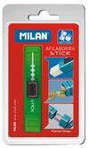 Точилка c ластиком MILAN STICK, пластиковый корпус, контейнер, блистер