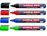 Набор маркеров для досок e-360, edding, 4 шт. (блистер PVC)