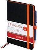 Книга записная Компаньон Elite, оранжевый срез