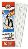 "Пластилин ""Пингвин"", 10 цветов, 200 г, стеки"