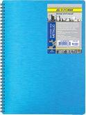 Тетрадь для записей на пружине Metallic  А6,  80 листов, клетка, пластиковая обложка, синий