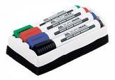 Набор маркеров для досок, Buromax, 4 шт., губка