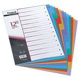 Индекс-разделитель А4, 12 разделов, цветной, с листом описи