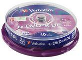 Диск DVD+R, 8.5Gb, 8х, Double Layer, Cake (10)