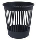 Корзина для бумаг круглая, пластиковая, черная