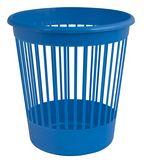 Корзина для бумаг круглая, пластиковая, синяя