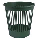 Корзина для бумаг круглая, пластиковая, зеленая