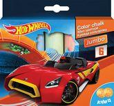 Мел цветной Jumbo, 6 цветов, Hot Wheels