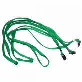 Шнурок для бейджей D002 (с клипом), зеленый
