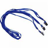 Шнурок для бейджей D002 (с клипом), синий