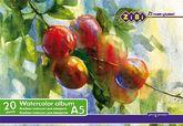Альбом-планшет для акварели А5, 20 листов