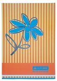 Книга канцелярская FLOWERS, А4, 80 листов, клетка, оранжевый