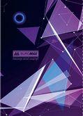 Книга канцелярская SPACE, А4, 96листов, клетка, фиолетовый