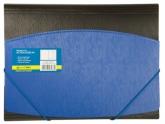 Папка пластиковая А4 на резинках, двухцветная, синяя