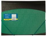 Папка пластиковая А4 на резинках, двухцветная, зеленая
