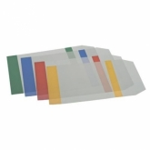 Обложки для книг с клапаном, с цветными полями, 22х40 см, 5 шт.