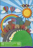 Картон цветной А4, 10 цветов, 10 листов