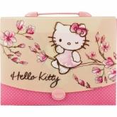 Портфель-коробка пластиковый, 1 отделение, A4, на замке, Hello Kitty