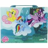 Портфель-коробка пластиковый, 1 отделение, A4, на замке, My Little Pony