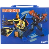 Портфель-коробка пластиковый, 1 отделение, A4, на замке, Transformers