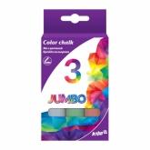 Мел цветной Jumbo, 3 шт., Kite
