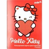 Картон цветной двухсторонний А4, 10 листов, 10 цветов, Hello Kitty