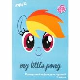 Картон цветной двухсторонний А4, 10 листов, 10 цветов, My Little Pony