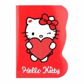 Блокнот с фигурной вырубкой, А6, 60 листов, клетка, Hello Kitty