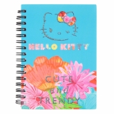 Блокнот на пружине, А6, 80 листов, клетка, пластиковая обложка, Hello Kitty