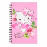 Блокнот на пружине, А5-, 80 листов, клетка, пластиковая обложка, Hello Kitty