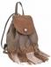 Сумка-рюкзак YES Weekend, коричневый с бахромой - №1