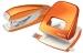 Дырокол WOW на 30 листов, оранжевый металлик