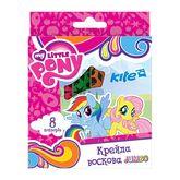 Карандаши-мелки цветные восковые Jumbo, 8 цветов, картонная корбка, My Little Pony