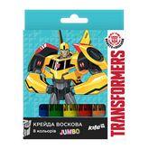 Карандаши-мелки цветные восковые Jumbo, 8 цветов, картонная корбка, Transformers