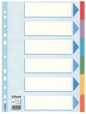 Индекс-разделитель Esselte, А4, 6 разделов, картон, полупрозрачный